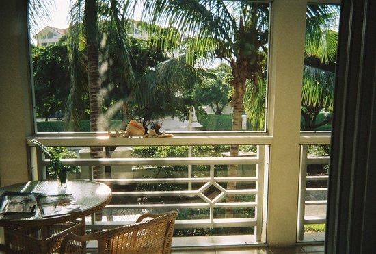 Ocean Club West: Veranda facing garden