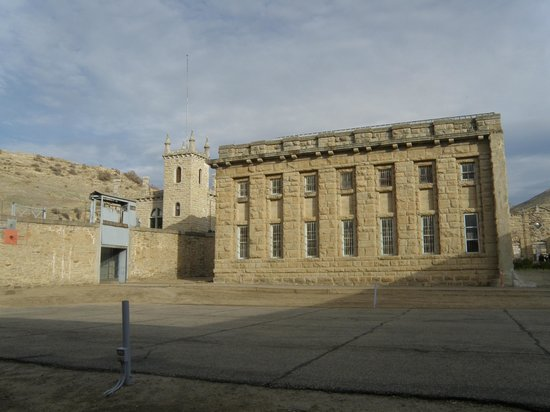 Old Idaho Penitentiary: From inside the stone walls.