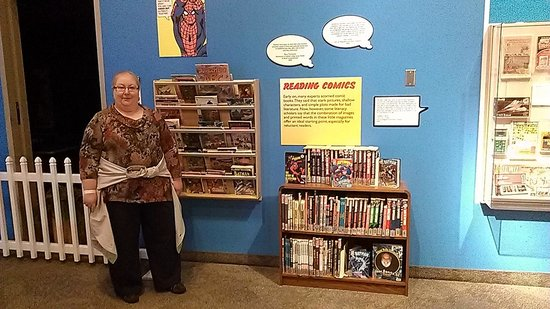 The Strong National Museum of Play: Display of many library books that can be checked out