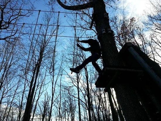 Skytop Lodge's Adventures : Rope bridge anyone!