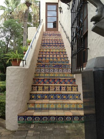 McNay Art Museum: One of the outdoor stairways leading from the courtyard.