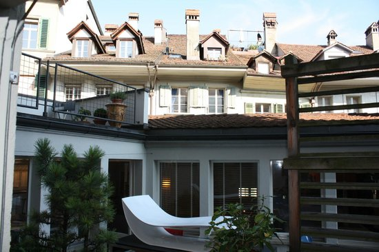 Hotel Goldener Schlussel: Вид из окна номера
