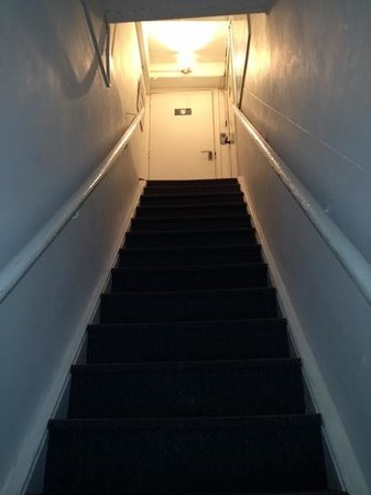 AMS Suites: very steep and dangerous stairs....not suited for older people