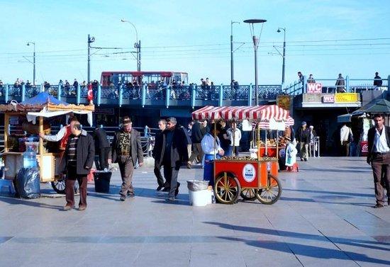 Street Food - Stuffed Mussels - Picture of Galata Bridge, Istanbul ...
