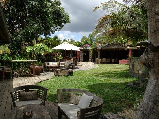 Lakaz Chamarel Exclusive Lodge: Vue sur le restaurant