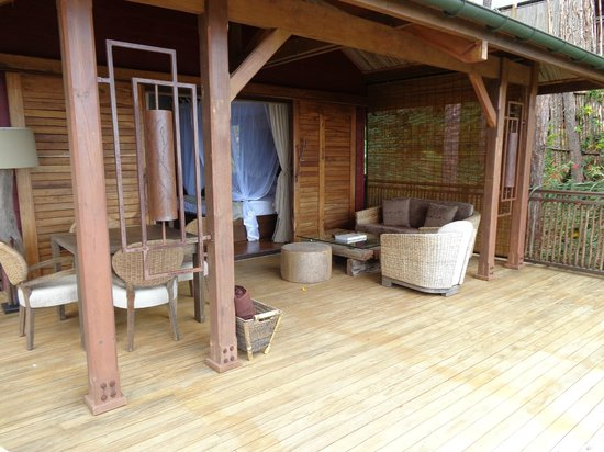 Lakaz Chamarel Exclusive Lodge: Terrasse de la suite