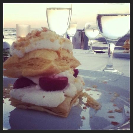White Palace El Greco Luxury Resort: dessert for my birthday on the jetty.