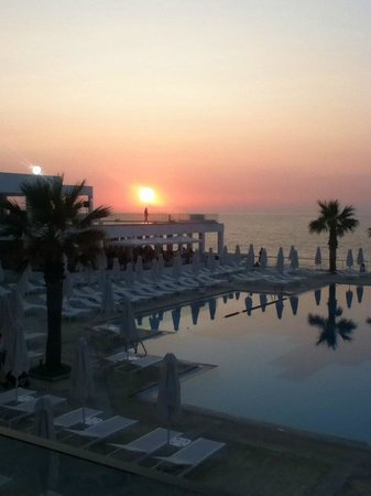 White Palace El Greco Luxury Resort: sunset from lobby.