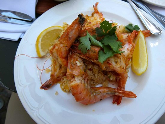 Jonkershuis Restaurant at Groot Constantia: Tiger Prawns