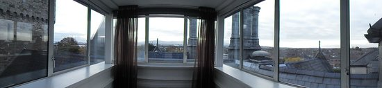 Clontarf Castle Hotel: 180 degree view of Dublin from our room