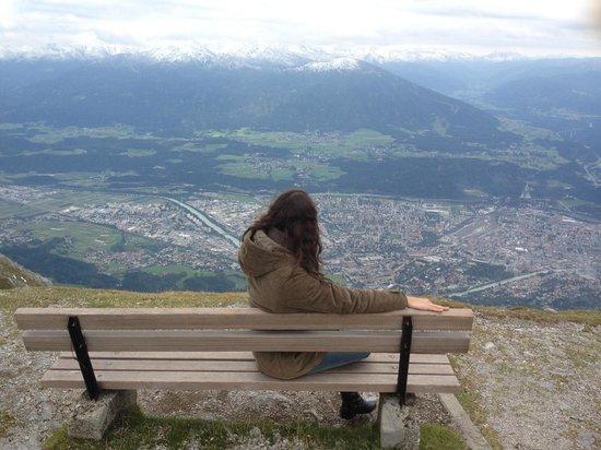 Hungerburgbahn in Innsbruck: Vista lá do alto