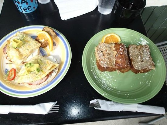 Up Country Bakery & Cafe: Breakfast including the Banana Bread French Toast