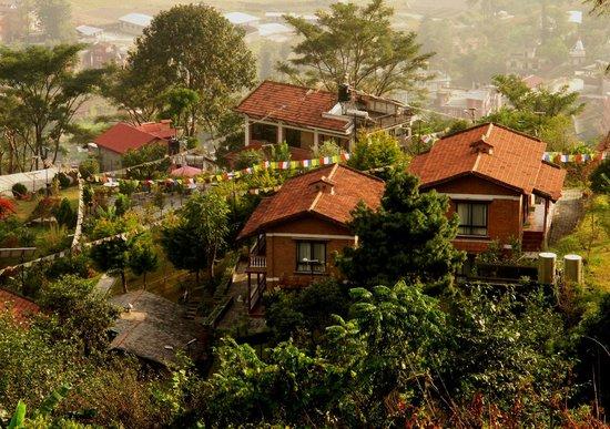 Chhahari : The resort from above