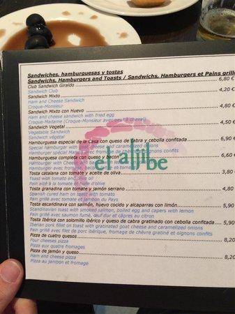 Hotel Convento del Giraldo: carta