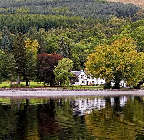 View from Loch Ard towards Altskeith Country House