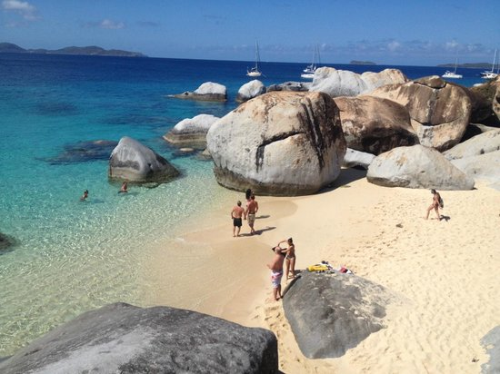 Just Because Luxury Private Charters: the baths at Virgin Gorda
