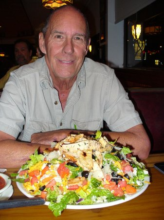 Tiffany's: Southwest Salad with Chicken - beyond huge and tasty
