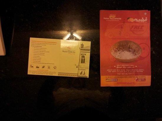 FabHotel Royal Castle Gandhipuram: Menu Card