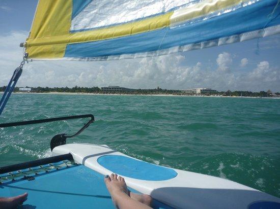 Secrets Maroma Beach Riviera Cancun: View from the Hobie cat!