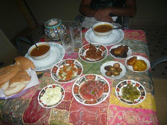 Riad Nassim: repas ..Hummmmmm.......