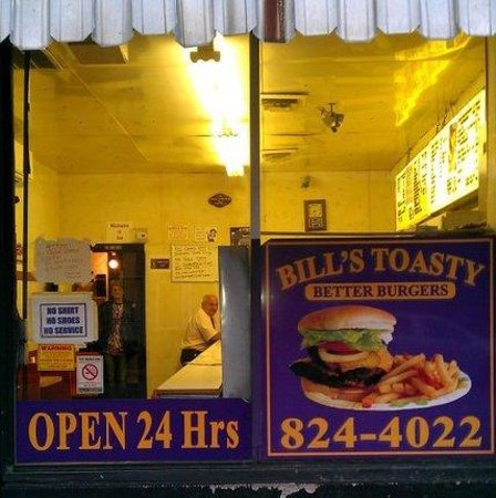 Bill's Toasty Shop: From the street photo.