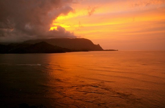 St. Regis Princeville Resort: Sunset view from the room