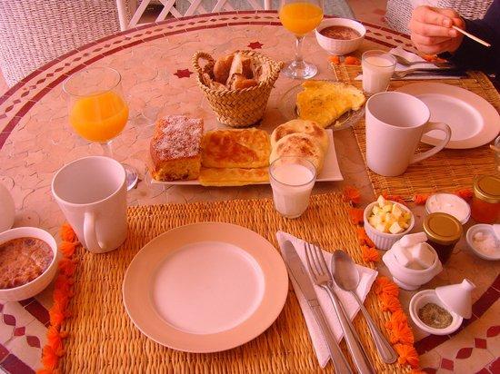Riad les Orangers d'Alilia Marrakech : Petit dejeuner