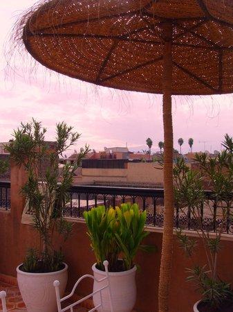 Riad les Orangers d'Alilia Marrakech : Vue de la terrasse  (Annexe les Orangers d'Alilia)