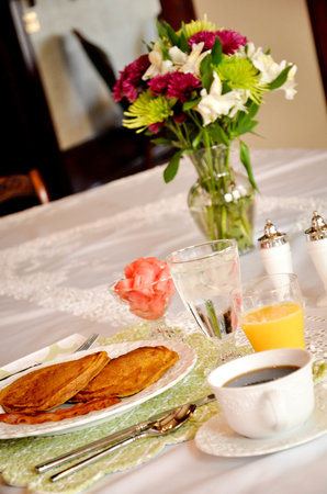 Solomon Mier Manor : Pumpkin Pancakes! One of our many delicous breakfasts