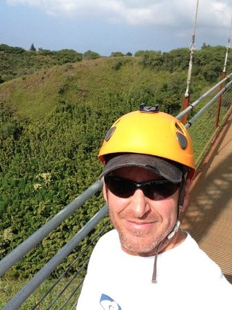 Kapalua Ziplines : Suspension Bridge - Kapalua Zip Line