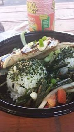 Umekes Ali'i Plaza : Freshly fried Ahi
