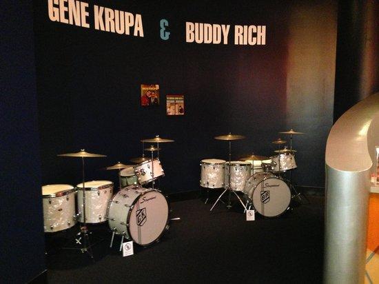 Rhythm! Discovery Center: Buddy Rich and Gene Krupa drums
