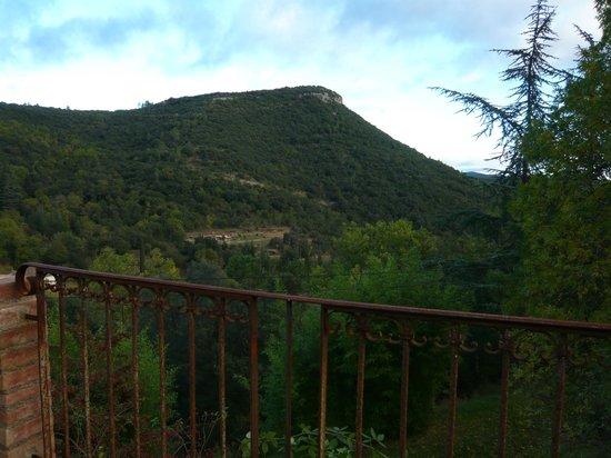 Mas Suejol: vue de la mignonne petite terrasse