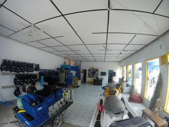 Maafushi Dive & Water Sports : lokale