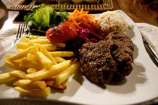 Kelebek Special Cave Hotel : Meatballs in restaurant