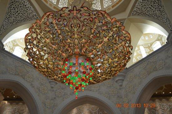 Mezquita Sheikh Zayed: más cerca de la araña de cristal