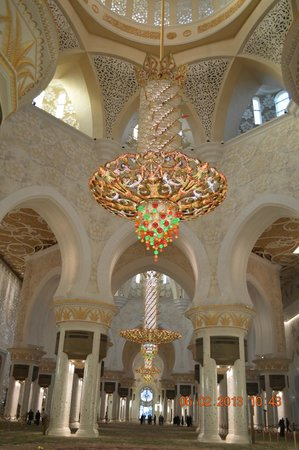 Mezquita Sheikh Zayed: araña, increíble