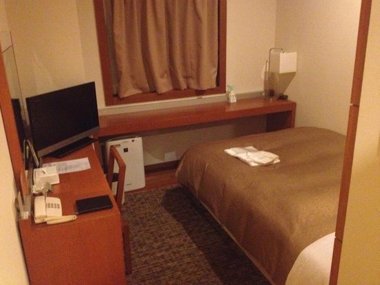 Hotel JAL City Haneda Tokyo: Bed from entrance view