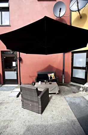 Hotel Fredrikstad : Back yard