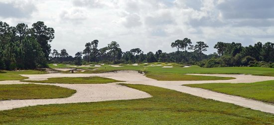 PGA Golf Club in PGA Village - Dye Course: Bunkers everywhere