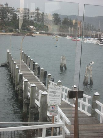 Harbourfront Restaurant: View to the northern part of Wollongong