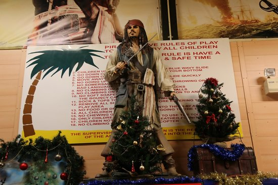 Captain Jack visiting Pirates Cove