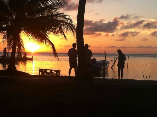 Sophie's Guest Rooms: Sunset from beachside rooms