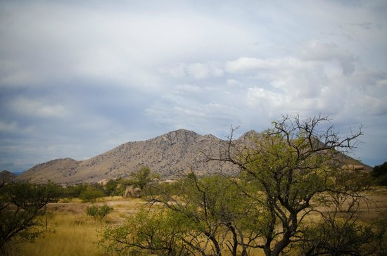 Triangle T Guest Ranch: Surrounded by boulders and mountains