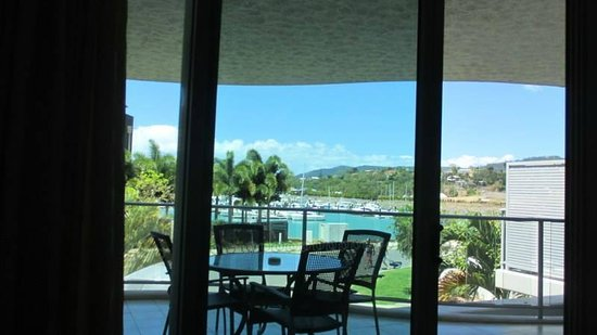 at Marina Shores: The outlook from the apartment.