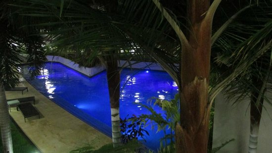 at Marina Shores: The pool in the evening.