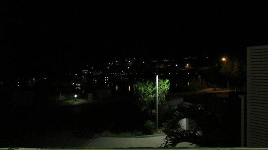 at Marina Shores: The view of the mariner and Airlie at night.
