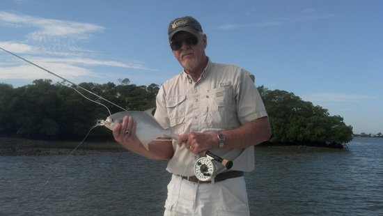 SoulMate Charters: Jerry's first fish by fly fishing