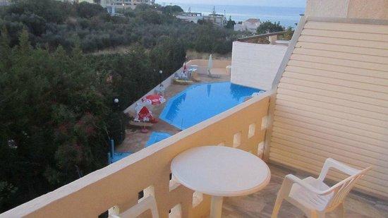 Alexandros Studios : vista dal balcone