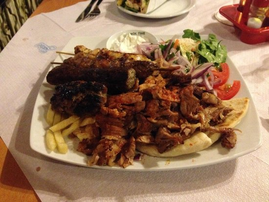 Mr Gyros: Mixed Grill - vegetarians need not apply.